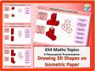Drawing 3D Shapes on Isometric Paper for KS4
