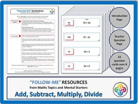 Add, Subtract, Multiply, Divide:  Follow Me PDF
