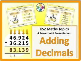 Adding Decimals for KS2