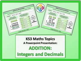 Addition: Integers and Decimals for KS3