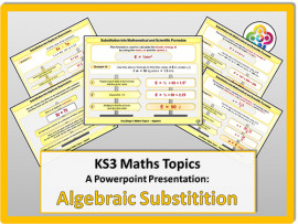 Algebraic Substitution for KS3