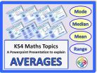 Averages and Range for KS4