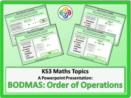 Order of Operations: BODMAS for KS3