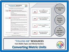 Converting Metric Units:  Follow Me PDF