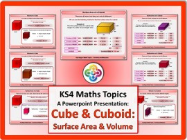 Cubes & Cuboids: Surface Area & Volume for KS4