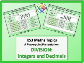 Division: Integers and Decimals for KS3