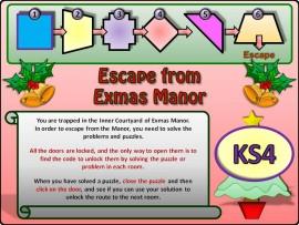 Escape from Exmas Manor KS4