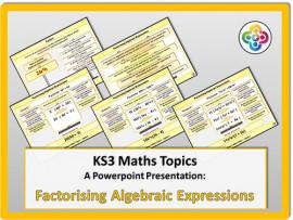 Factorising Algebraic Expressions for KS3