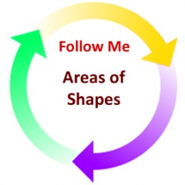 Areas of Shapes:  Follow Me PDF