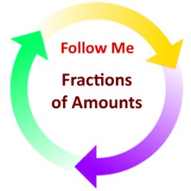 Fractions of Amounts:  Follow Me PDF