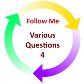 Various Questions 4:  Follow Me PDF: Digital Download