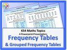 Frequency Tables and Grouped Frequency Tables for KS4