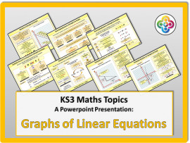 Graphs of Linear Equations for KS3