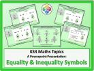 Equality and Inequality Symbols for KS3