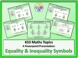 Equality and Inequality Symbols for KS3