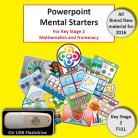NEW Full KS2 Powerpoint Mental Starters Invoice pay *WELSH*