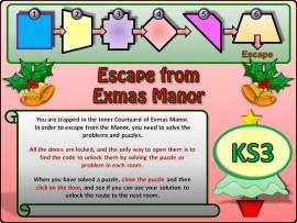 Escape from Exmas Manor KS3
