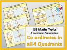Co-ordinates in all four Quadrants for KS3