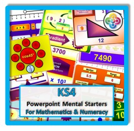 Key Stage 4 Powerpoint Mental Starters: Foundation and Higher