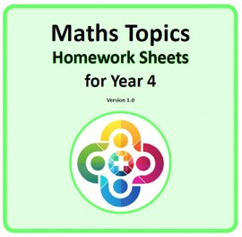 Maths Topics Homework Sheets for Year 4 PDF Booklet