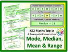 Mode, Median, Mean and Range for KS2