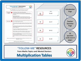 Multiplication Tables:  Follow Me PDF