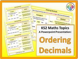 Ordering Decimals for KS2