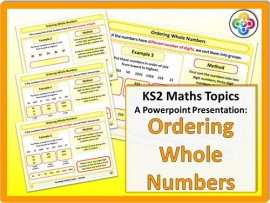 Ordering Whole Numbers for KS2
