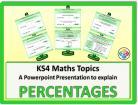 Percentages for KS4
