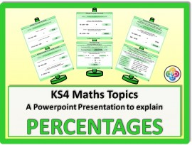 Percentages for KS4