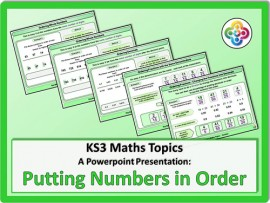 Putting Numbers in Order for KS3
