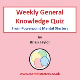 Weekly General Knowledge Quiz Digital Download
