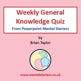 Weekly General Knowledge Quiz A