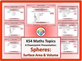 Spheres: Surface Area & Volume for KS4