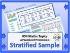 Stratified Sample for KS4