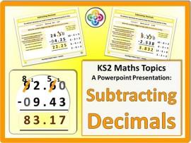 Subtracting Decimals for KS2