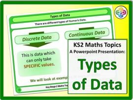 Types of Data for KS2