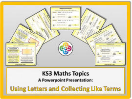 Using Letters and Collecting Like Terms for KS3