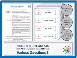 Various Questions 3:  Follow Me PDF