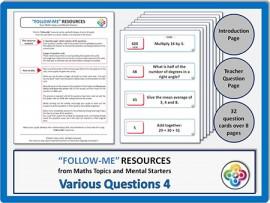 Various Questions 4:  Follow Me PDF
