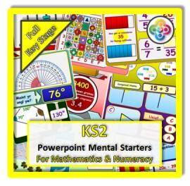 FULL KS2 Powerpoint Mental Starters *WELSH*