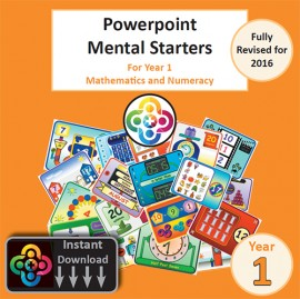 Year 1 Powerpoint Mental Starters Instant Pay and Download *Revised*