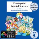 Blwyddyn 3 Powerpoint Mental Starters Instant Pay and Download *WELSH*
