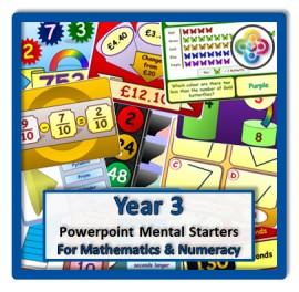 Year 3 Powerpoint Mental Starters