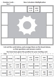 The Big Book of Mathematics DOMINO CARDS for Year 5