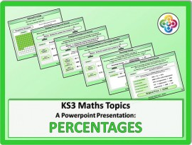 Percentages for KS3