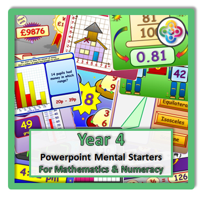 Year 4 Powerpoint Mental Starters Maths Mental Starters